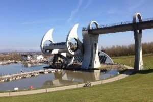 View from a Segway tour at The Falkirk Wheel.